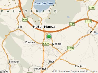 overview map location hotel hansa mendig