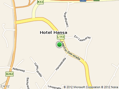detailed map - location - Hotel HANSA Mendig