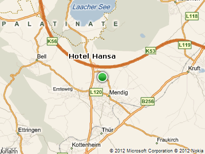 overview map - location - Hotel HANSA Mendig